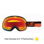 Vonzipper Fishbowl Frosteez Goggles 2013, Frosteez Blue Orange-Fire Chrome, medium