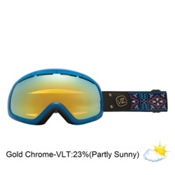 Vonzipper Skylab Goggles 2013, Gypsy Tears-Gold Chrome, medium