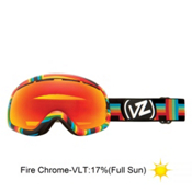 Vonzipper Skylab Goggles 2013, Double Rainbow-Fire Chrome, medium