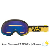 Vonzipper Skylab Frosteez Goggles 2013, Frosteez Blue Yellow-Astro Chrome, medium