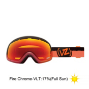 Vonzipper Skylab Frosteez Goggles 2013, Frosteez Pink Orange-Fire Chrome, medium