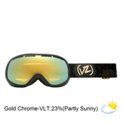 Vonzipper Chakra Womens Goggles 2013, Black Gloss-Gold Chrome, medium