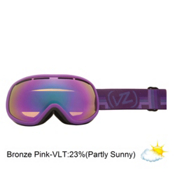 Vonzipper Chakra Womens Goggles 2013, Vurple Satin-Bronze Pink Chrom, medium