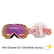 Vonzipper Chakra Womens Goggles 2013, B4bc-Pink Chrome+ Fluffy Muffs, medium