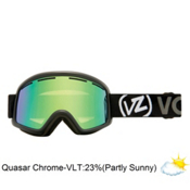 Vonzipper Beefy Goggles 2013, Black Gloss-Quasar Chrome, medium