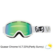 Vonzipper Beefy Goggles 2013, White Gloss-Quasar Chrome, medium