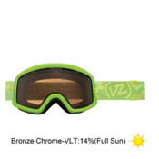 Vonzipper Beefy Goggles 2013, Lime Satin-Bronze Chrome, medium