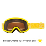 Vonzipper Beefy Goggles 2013, Lemondrop Satin-Bronze Chrome, medium