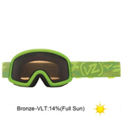 Vonzipper Trike Kids Goggles 2013, Lime Satin-Bronze, medium