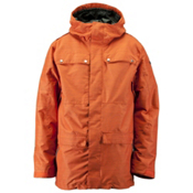 Ride Rainier Mens Shell Snowboard Jacket, Dark Orange Slub, medium