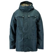 Ride Rainier Mens Shell Snowboard Jacket, Blue Marine Slub, medium