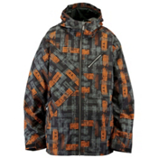 Ride Kent Mens Insulated Snowboard Jacket, Worn Out Print, medium