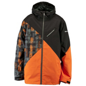 Ride Kent Mens Insulated Snowboard Jacket, Black Herringbone, medium