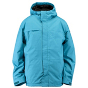 Ride Gatewood Mens Shell Snowboard Jacket, Teal Herringbone, medium