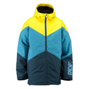 Ride Hawthorne Mens Insulated Snowboard Jacket, Blue Marine Herringbone, medium