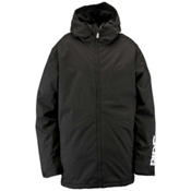 Ride Hawthorne Mens Insulated Snowboard Jacket, Black Herringbone, medium