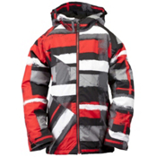 Ride Hemi Boys Snowboard Jacket, Painted Plaid Print Red, medium