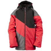 Ride Hemi Boys Snowboard Jacket, Red Herringbone, medium