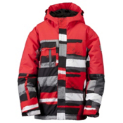Ride Cobra Boys Snowboard Jacket, Painted Plaid Print Red, medium