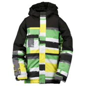 Ride Cobra Boys Snowboard Jacket, Painted Plaid Print Green, medium