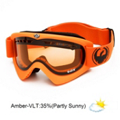 Dragon DX Goggles 2013, Matte Orange-Amber, medium