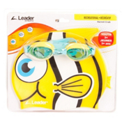 Leader Hermit Crab Kids Swim Goggle, Blue-Yellow, medium