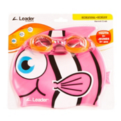 Leader Hermit Crab Kids Swim Goggle, Clear-Pink, medium