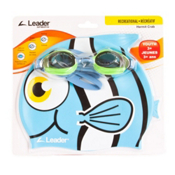 Leader Hermit Crab Kids Swim Goggle, Clear-Green Blue, medium