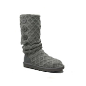 UGG Australia Lattice Cardy Womens Boots, Charcoal, medium
