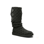 UGG Australia Lattice Cardy Womens Boots, Black, medium