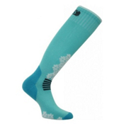 Euro Sock Snowdrop Medium Womens Ski Socks, Turquoise, medium