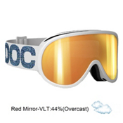 POC Retina Julia Mancuso Signature Womens Goggles 2013, Metallic White-Red Mirror, medium
