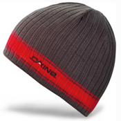 Dakine Ribbed Pinline Hat, Charcoal-Red, medium