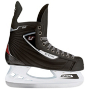 CCM U+02 Junior Ice Hockey Skates, Black-Red, medium