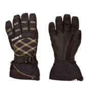 Auclair Stitchy Womens Gloves, Black-Grey-Gold, medium