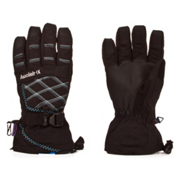 Auclair Stitchy Womens Gloves, Black-Silver-Powder, medium