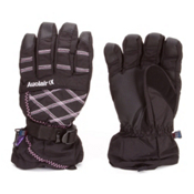 Auclair Stitchy Womens Gloves, Black-Silver-Purple, medium