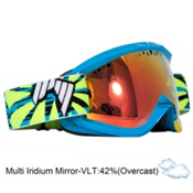SHRED Soaza Toric Goggles 2013, Blue Yellow-Multi Iridium Mirr, medium