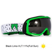 SHRED Slab Goggles 2013, Green-Black Limo, medium