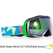 SHRED Slab Goggles 2013, Silver-Multi Green Mirror Phot, medium