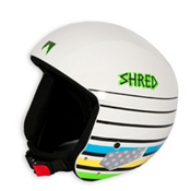 SHRED Mega Brain Bucket Helmet 2013, White Lines, medium