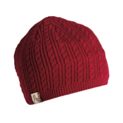 Turtle Fur Cable Solid Hat, Cranberry, medium