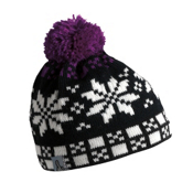 Turtle Fur Flaky Pixie Pom Womens Hat, Fuchsia, medium