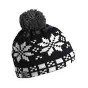 Turtle Fur Flaky Pixie Pom Womens Hat, Charcoal, medium