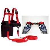 Lucky Bums Ski Trainer Kit with Tip Clip 2013, Black-Red, medium