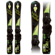 Lucky Bums Snow Kids Plastic Kids Skis 2013, Green-Black, medium