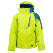 Spyder Avenger Boys Ski Jacket, Sharp Lime-Collegiate Mosaic P, medium
