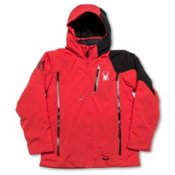 Spyder Avenger Boys Ski Jacket, Red-Black-Black, medium