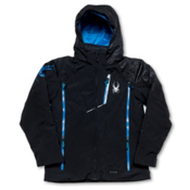Spyder Avenger Boys Ski Jacket, Black-Black-Collegiate, medium