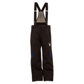 Spyder Force Kids Ski Pants, Black-Just Blue, medium